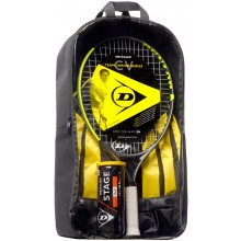 KIDS PACKAGE DUNLOP CV TEAM 23 (RAQUETA JUNIOR 23 + MOCHILA + BOTE DE 3 PELOTAS STAGE 2 ORANGE)