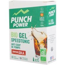BOTE DE 6 GELS PUNCH POWER SPEEDTONIC COLA