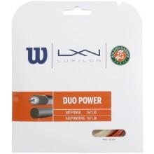 CORDAJE WILSON DUO POWER ROLAND GARROS : LUXILON ALU POWER & WILSON NXT POWER 1.25 (12.20 METROS)