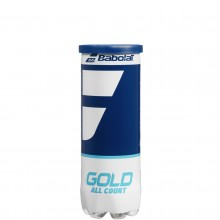 TUBE DE 3 BALLES BABOLAT GOLD ALL COURT