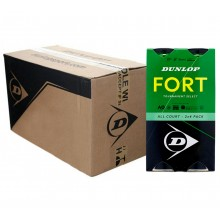 CAJA DE 9 BIPACKS DE 4 PELOTAS DUNLOP FORT TOURNAMENT SELECT