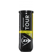 BOTE DE 3 PELOTAS DUNLOP TOUR BRILLIANCE