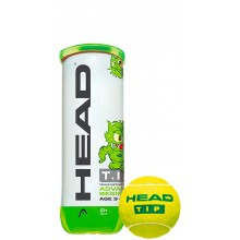 TUBO  DE 3 PELOTAS HEAD TIP GREEN