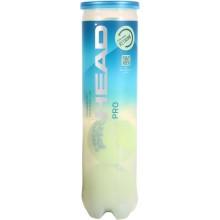 TUBO DE 4 PELOTAS HEAD PRO