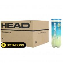 CAJA DE 24 BOTES DE 3 PELOTAS HEAD PRO BLUE
