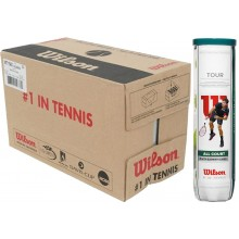 CAJA DE 18 BOTES DE 4 PELOTAS  WILSON TOUR ALL COURT