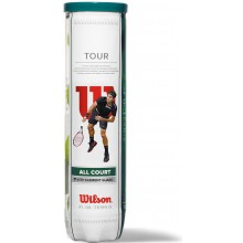BOTE DE 4 PELOTAS WILSON TOUR ALL COURT