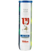 TUBO DE 4 PELOTAS WILSON TOUR CLUB