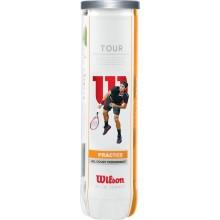BOTE DE 4 PELOTAS WILSON TOUR PRACTICE