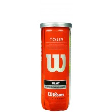 BOTE DE 3 PELOTAS DE TENIS WILSON TOUR CLAY