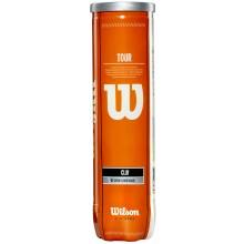 TUBO DE 4 PELOTAS DE TENIS WILSON TOUR CLAY