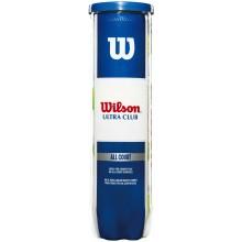 BOTE DE 4 PELOTAS WILSON ULTRA CLUB
