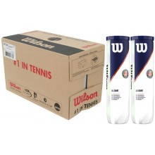 CARTON DE 9 BIPACKS DE 4 BALLES WILSON ROLAND GARROS ALL COURT
