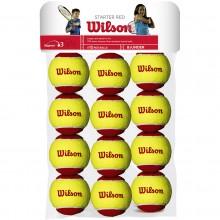 BOLSITA DE 12 PELOTAS WILSON STARTER RED
