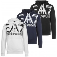 SUDADERA EA7 TRAINING FUNDAMENTAL SPORTY LOGO CON CAPUCHA