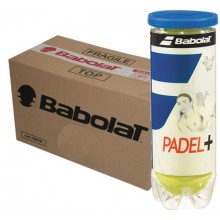 CAJA DE 24 BOTES DE 3 PELOTAS DE PADEL BABOLAT PADEL+
