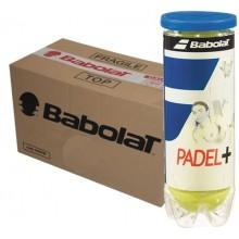 CARTÓN DE 24 TUBOS DE 3 PELOTAS DE PADEL BABOLAT PADEL+