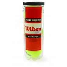 TUBO DE 3 PELOTAS DE PADEL WILSON RUSH 100