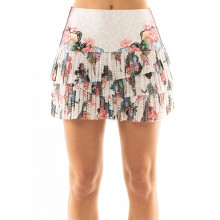 FALDA LUCKY IN LOVE HI ANIMAL FEVER PLEATED SCALLOP