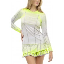T-SHIRT LUCKY IN LOVE PLEAT IT UP MANCHES LONGUES