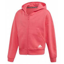 SUDADERA CON CAPUCHA ADIDAS ZIPPE TRAINING JUNIOR NIÑA MUST HAVE 3S