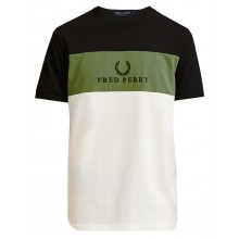 CAMISETA FRED PERRY EMBROIDERED PANEL