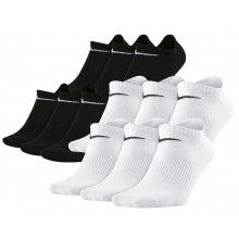 6 PARES  DE CALCETINES NIKE NO SHOW LIGHTWEIGHT EVERYDAY EXTRA BAJOS