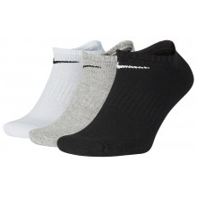 3 PARES DE CALCETINES NIKE CUSHION EVERYDAY EXTRA-BAJOS