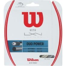 CORDAJE WILSON DUO POWER: LUXILON ALU POWER & WILSON NXT POWER 1.25 (12.20 METROS)