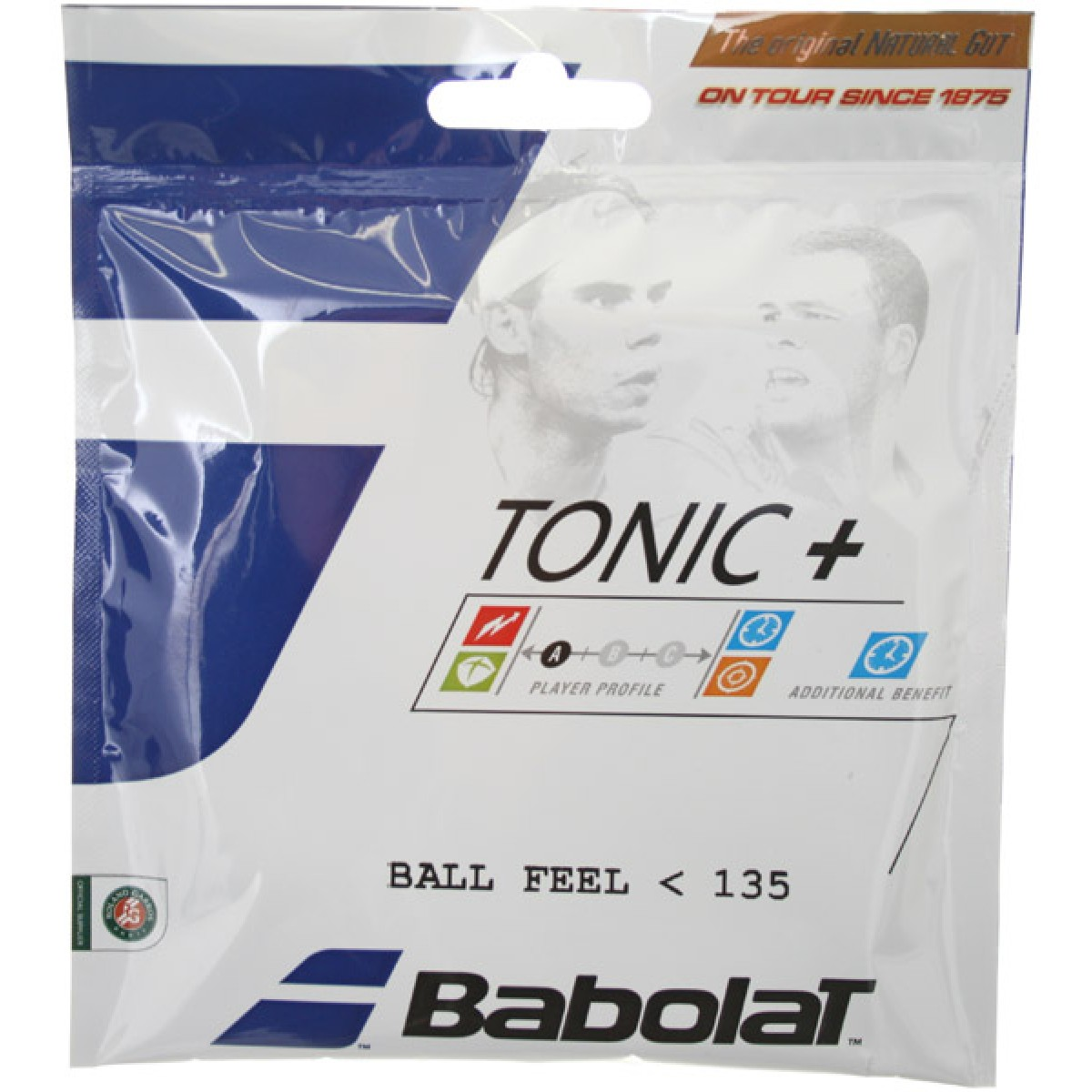 CORDAJE BABOLAT CUERDA NATURAL TONIC + BALL FEEL (12 METROS)