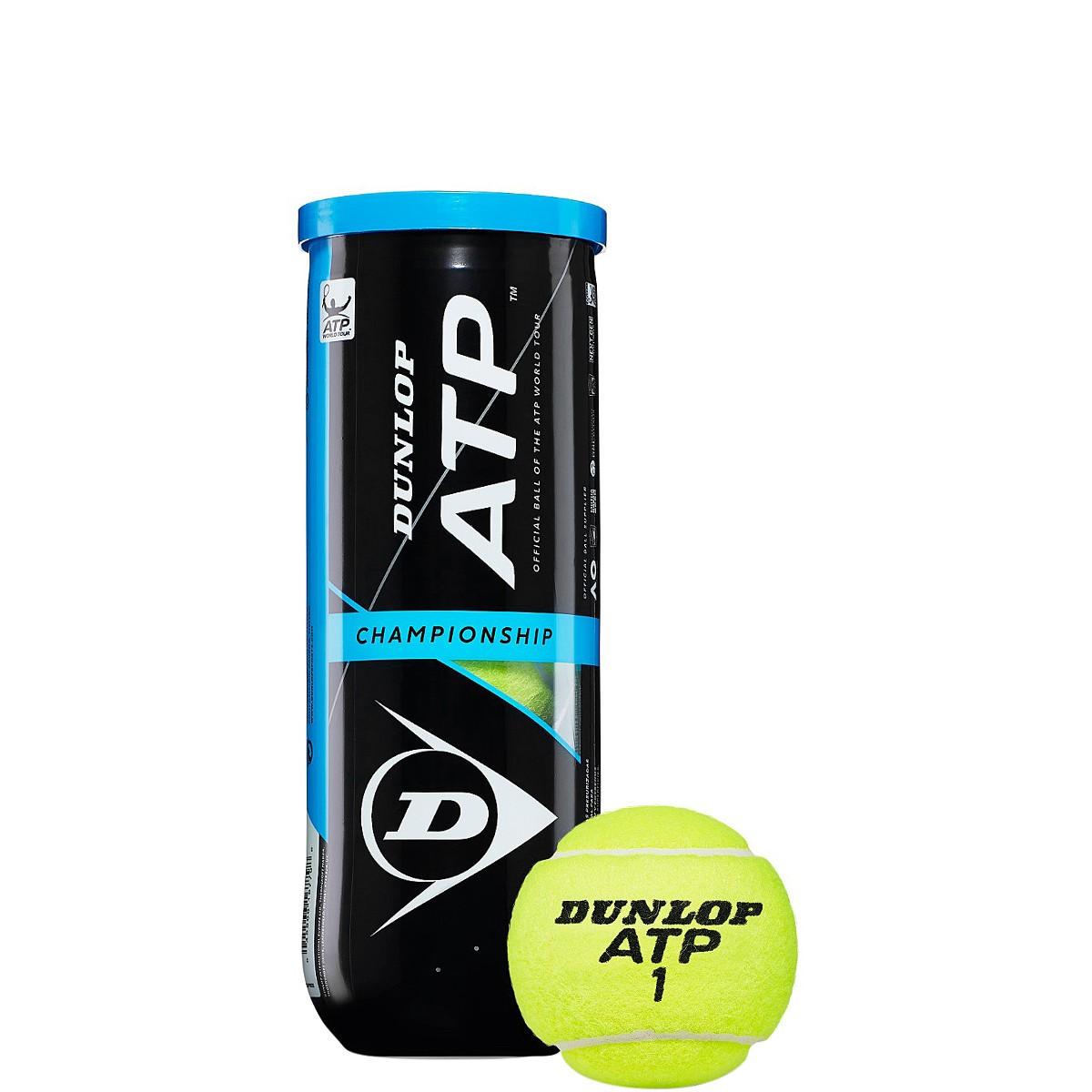 TUBO DE 3 PELOTAS DUNLOP ATP CHAMPIONSHIP